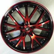 White Diamond 530 Candy Red and Black Wheels