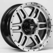 White Diamond WD-3244 Machine Black Wheels