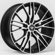 White Diamond WD-3267 Matte Machine Black Wheels
