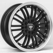 White Diamond WD-820 Matte Black Machined Wheels