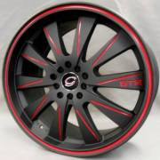 White Diamond 975 Black with Red Accent