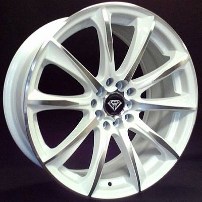 G-Line G1026 White Machined Wheels