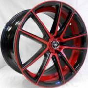 White Diamond 3197 Red and Black Accent