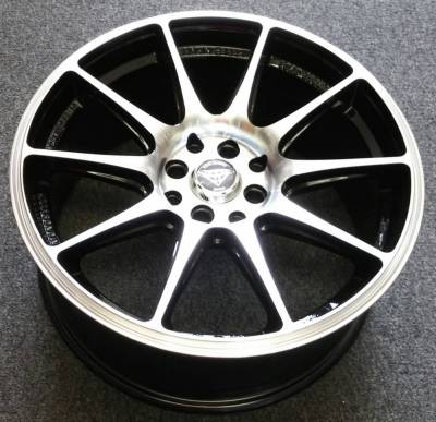 White Diamond WD-0051 Machine Black Wheels